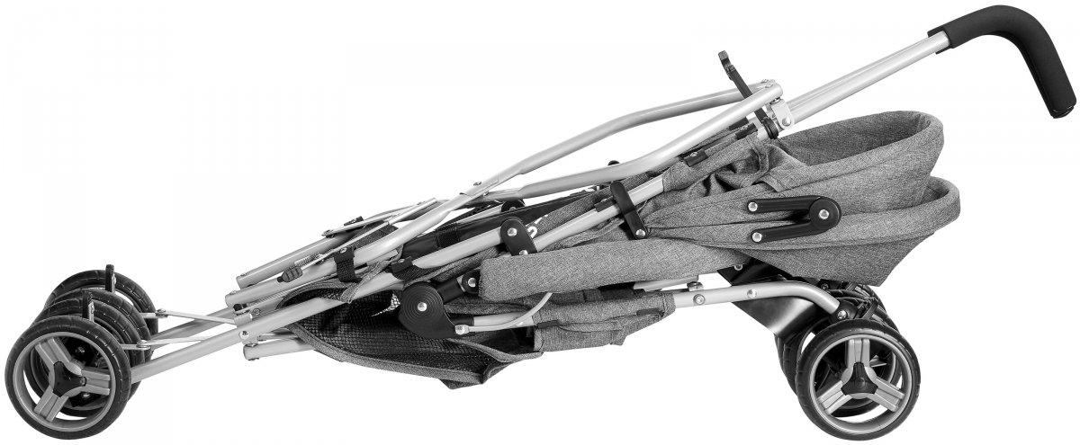 Lekki wózek spacerowy Barton Szary - parasolka, spacerówka