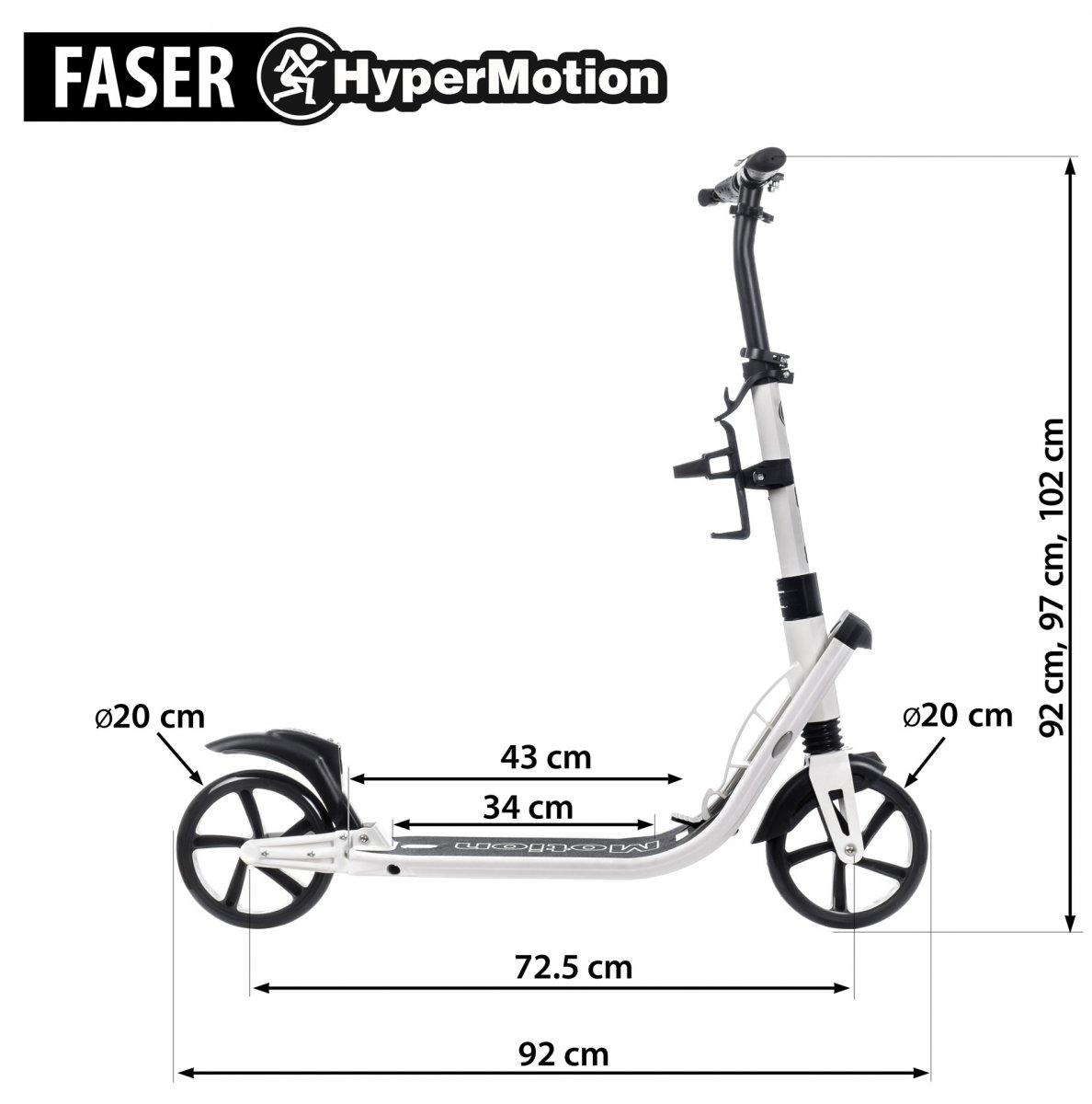Hulajnoga dla dorosłych HyperMotion FASER - biała