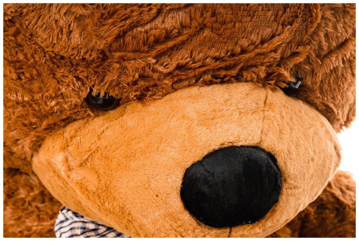 Miś pluszowy GIGANT 180 cm - ciemny brąz
