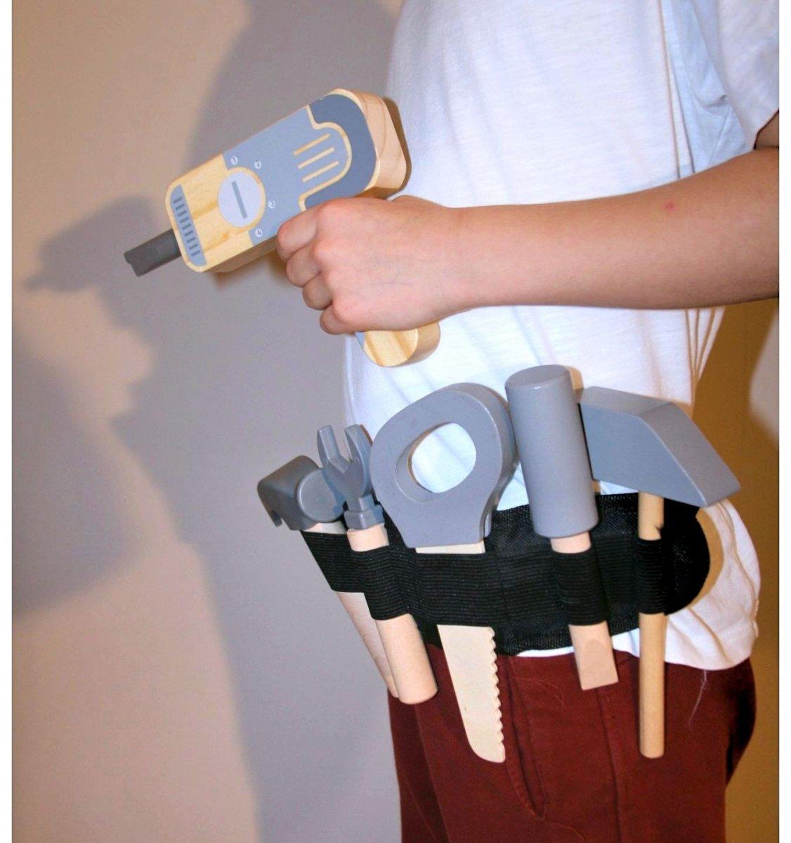 Warsztat pracuś z pasem na narzędzia - 30 el.