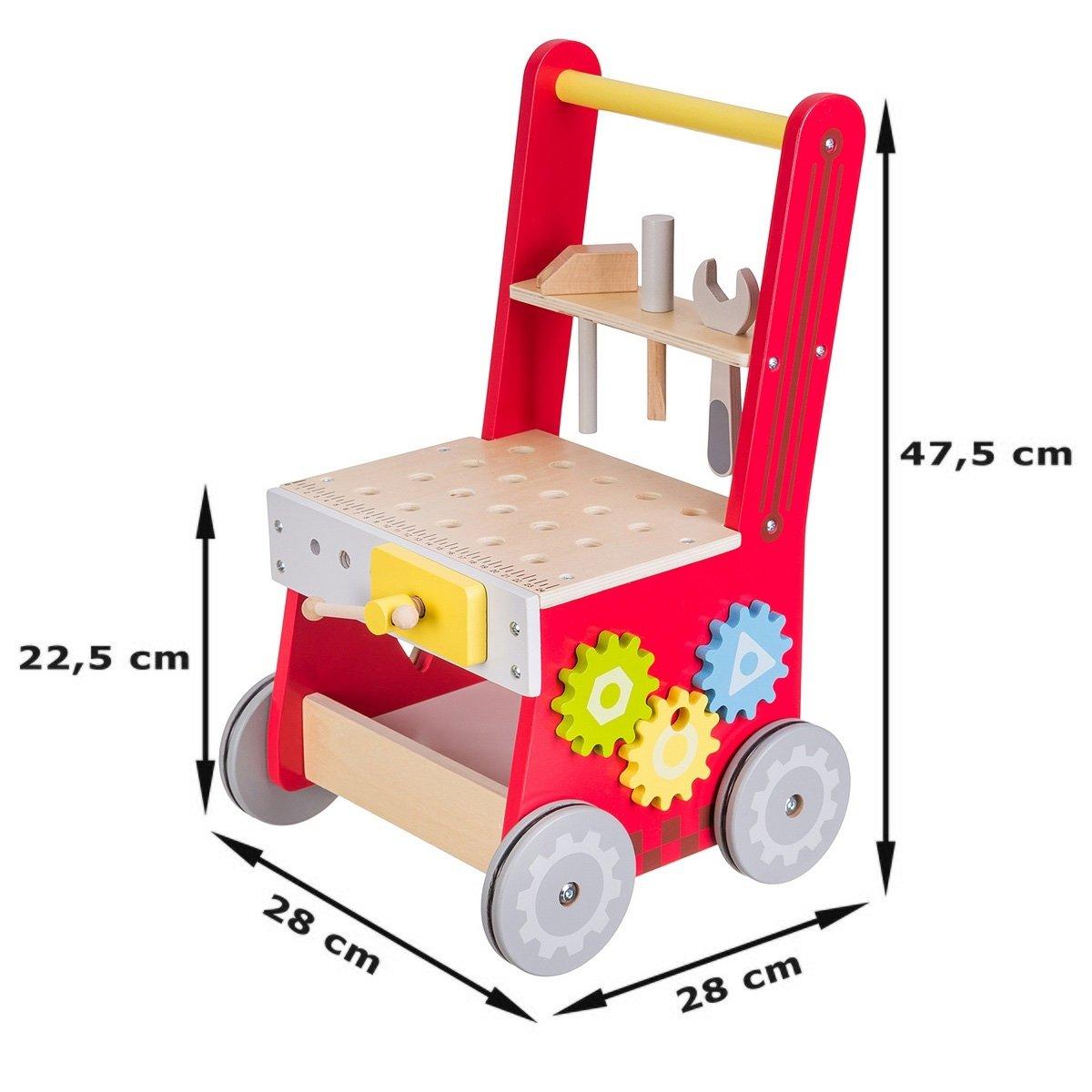Drewniany chodzik, pchacz - warsztat - 47 elementów