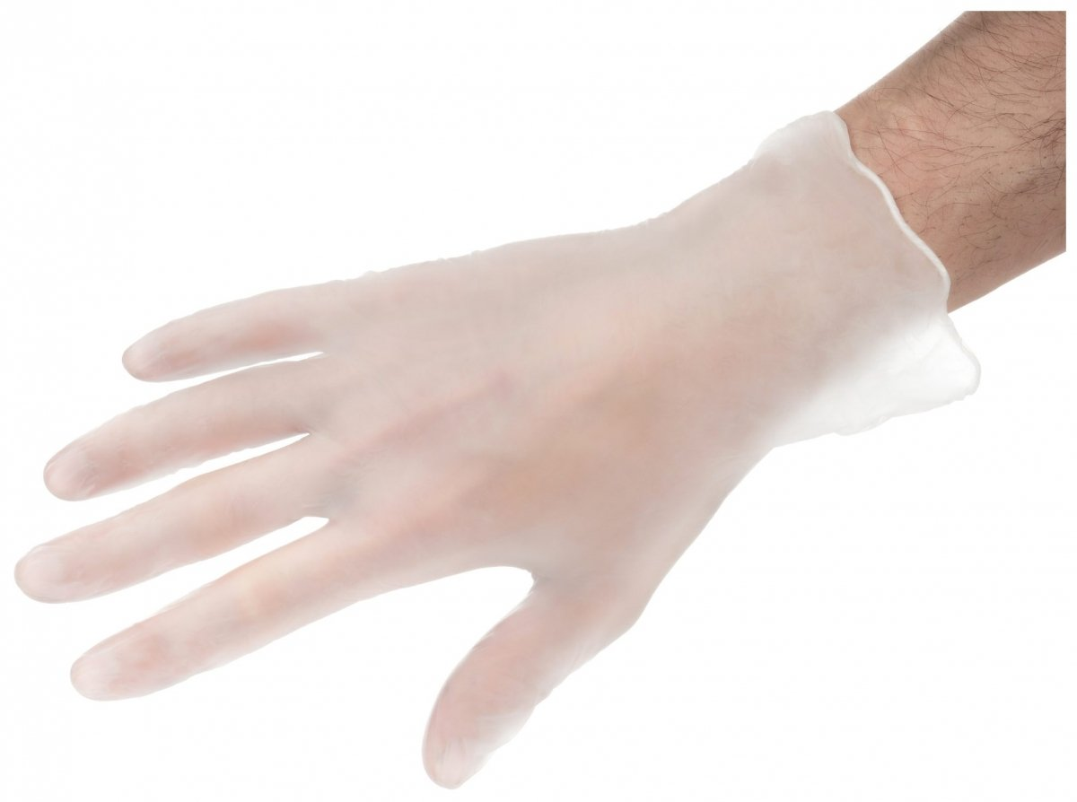 Rękawice Winylowe Bezpudrowe - 100 sztuk - rozmiar M