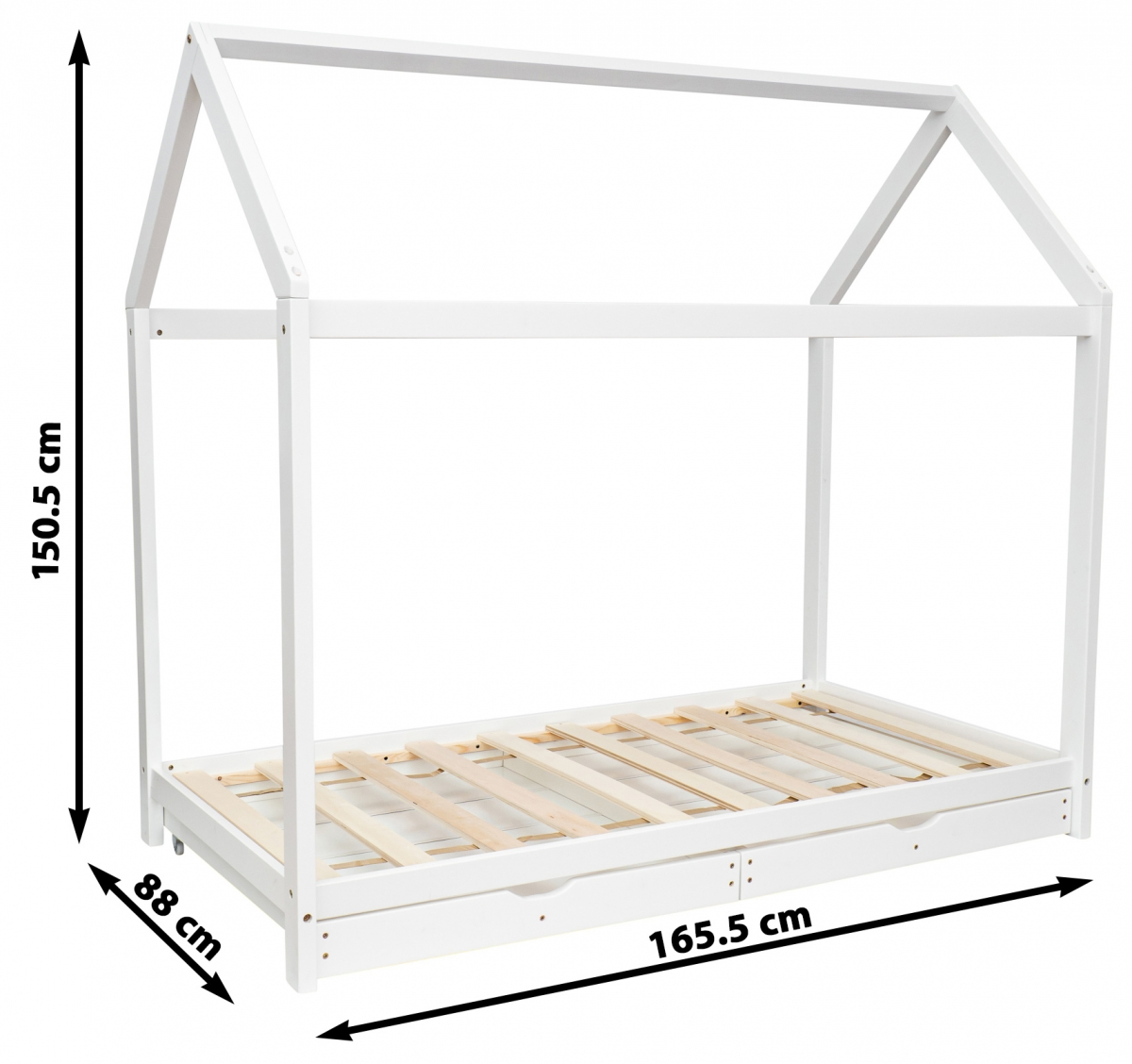 Łóżko - Chatka Puchatka - z szufladami