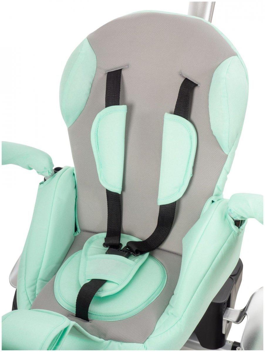 Rowerek trójkołowy TOBI PIVOTE - kolor miętowy - pompowane koła