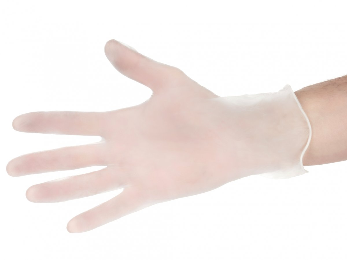 Rękawice winylowe ochronne - bezpudrowe - 100 sztuk - rozmiar XL