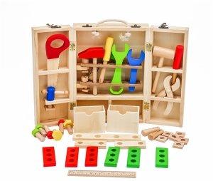 Drewniany warsztat w walizce - mały majsterkowicz