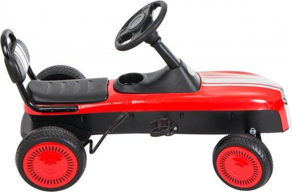 Gokart na pedały RETRO - jeździk dla dzieci 3-8 lat - fioletowy