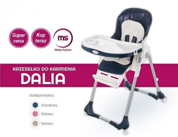 Krzesełko do karmienia Dalia - granatowe