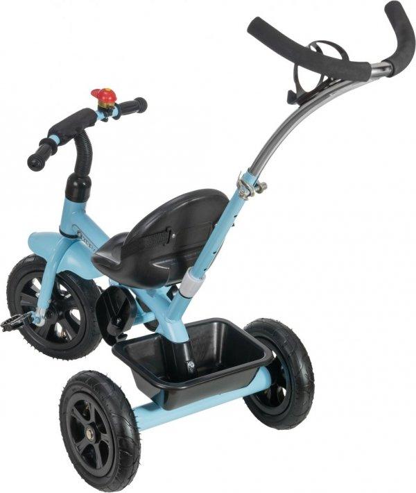 Rowerek Trójkołowy z pchaczem i pompowanymi kołami TOBI BASIC AIR 2 - niebieski