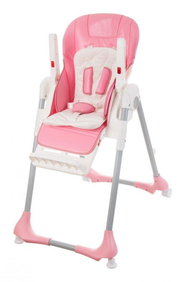 Krzesełko do karmienia Dalia - różowe