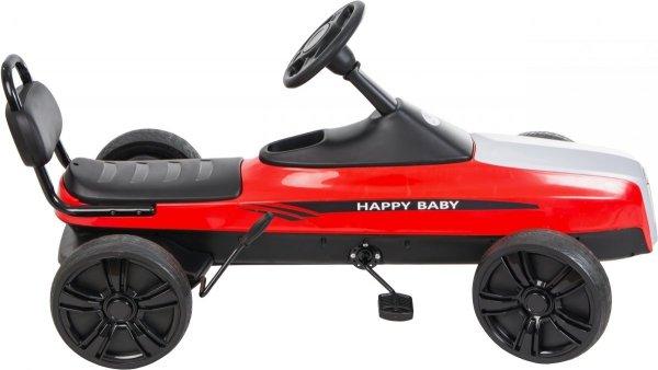 Gokart na pedały RETRO - jeździk dla dzieci 5-12 lat - fioletowy