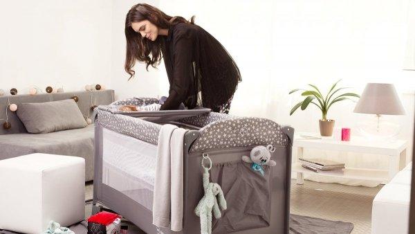 Łóżeczko turystyczne przenośne Happy Traveller BASIC PLUS - szare