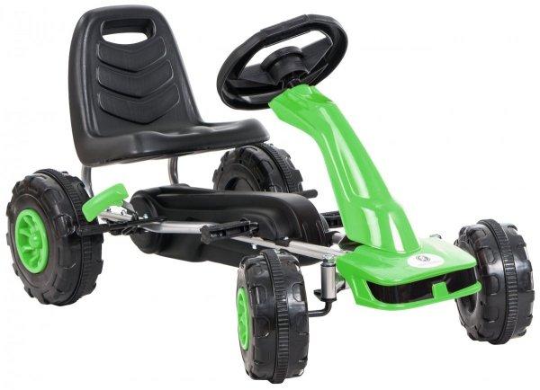 Gokart na pedały - jeździk dla dzieci 3-8 lat - zielony