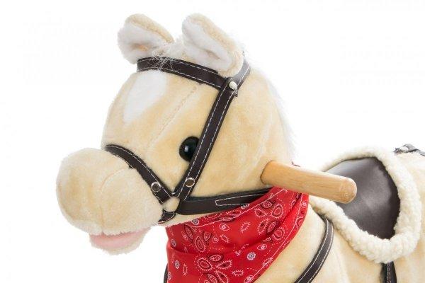 Koń na biegunach - średni 56 cm - beżowy