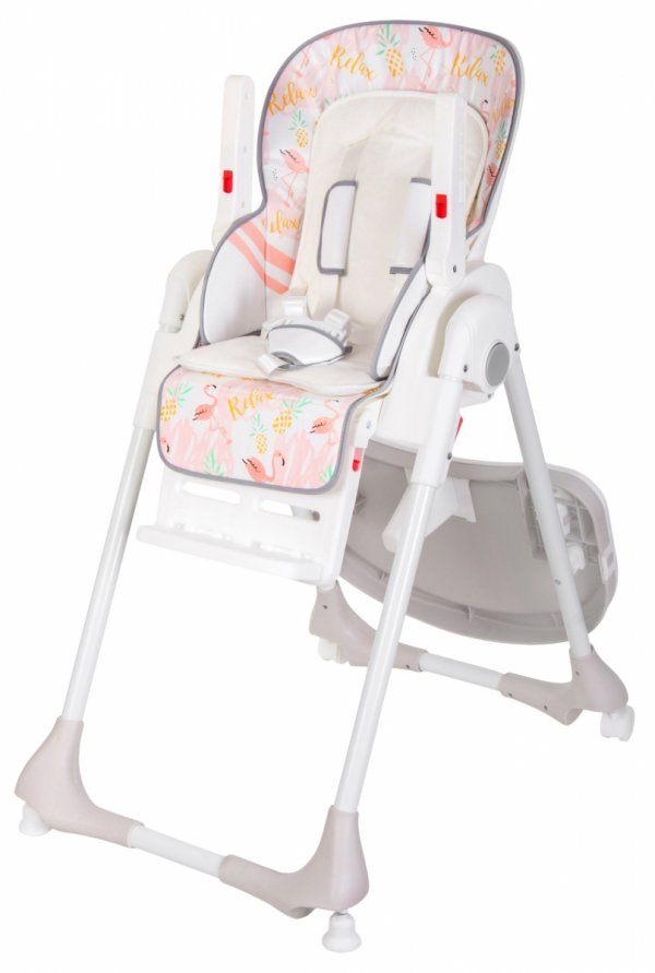 Krzesełko do karmienia DALIA - wzór FLAMINGI