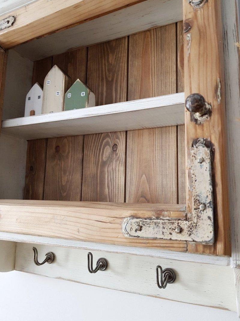 Drewniana półka stara rama okienna