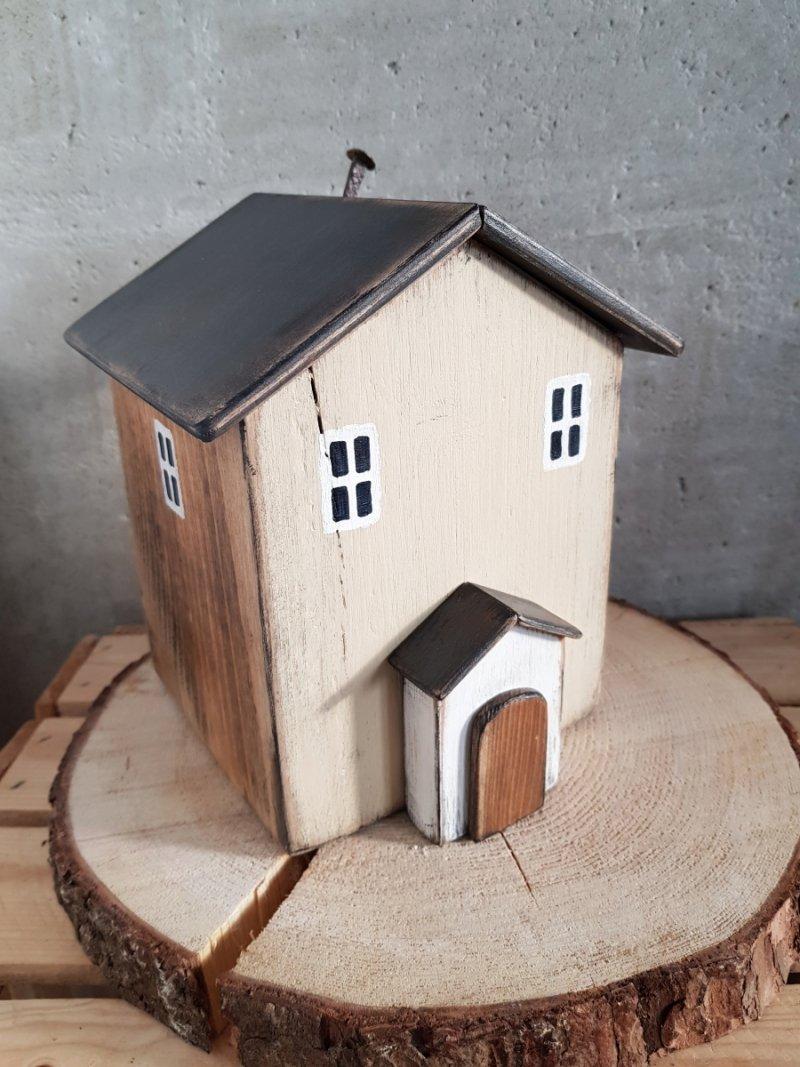Drewniany domek beż/natural