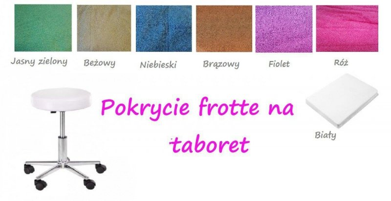 Pokrycie na taboret frotte Aba Group AMARANT