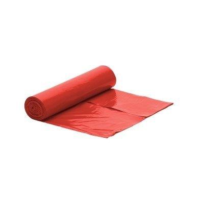 Worek czerwony na śmieci LDPE 120 L/rolka 25 szt