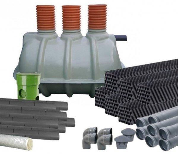 oczyszczalnia 2000l 3-komorowa pakiety WBOX