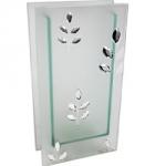 8429 Wazon szklany z kryształkami