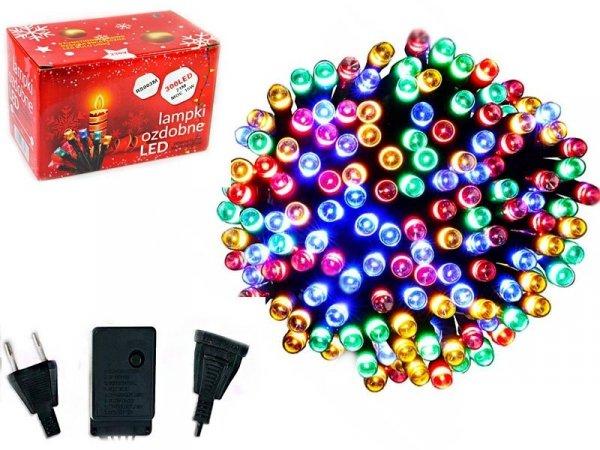 LAMPKI CHOINKOWE 300 LED WEWNĘTRZNE ZEWNĘTRZNE MULTIKOLOR
