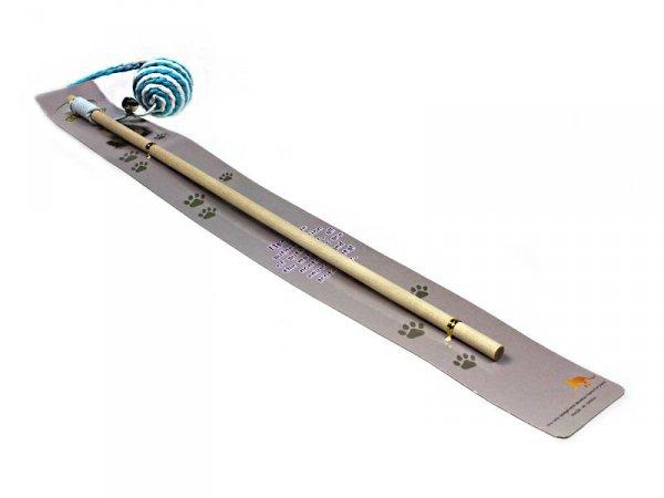 5403 WĘDKA Z PIŁKĄ KULKĄ ZABAWKA DLA KOTA 40 cm