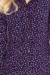 MM 018-3 Koszula z KIESZONKAMI - GRANAT + niebieskie MOTYLKI