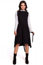 B126 Sukienka tunika bez rękawów - czarna