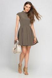 Dziewczęca sukienka z kontrafałdami