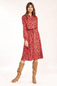 Sukienka midi w kwiatowy wzór - S189