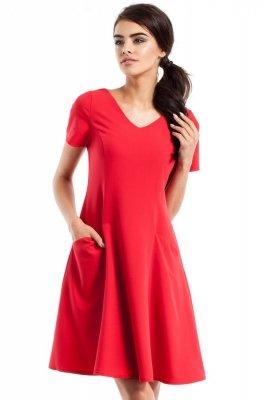 MOE233 Sukienka czerwona