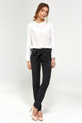 Spodnie z pasami na biodrach - czarny - SD30