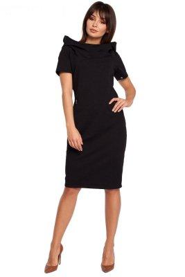 B028 sukienka czarna