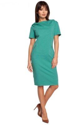 B028 sukienka zielona