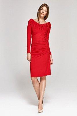 Sukienka koktajlowa - czerwony - CS07