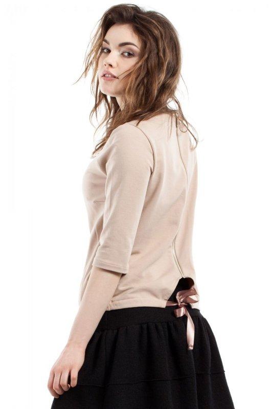 MOE217 bluzka beżowa