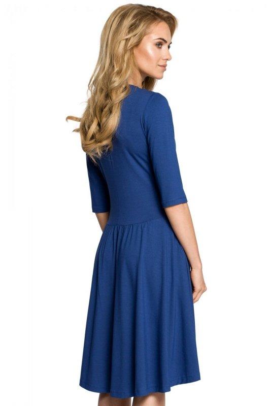 M314 Sukienka niebieska