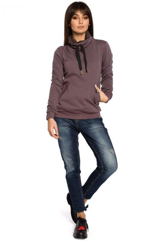 B055 bluza brązowa