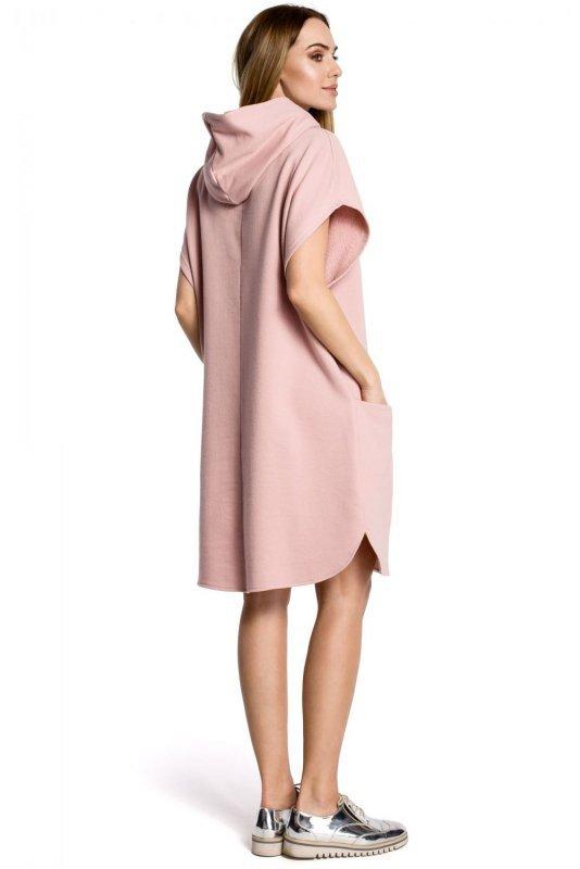 M368 Sukienka pudrowa