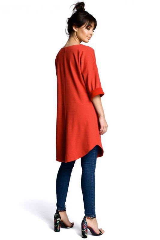 B064 Sukienka tunika czerwona