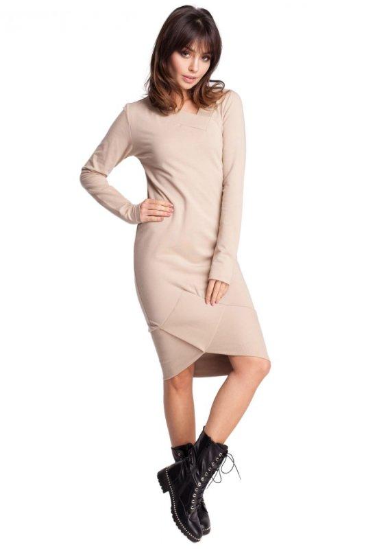 B007 sukienka beżowa