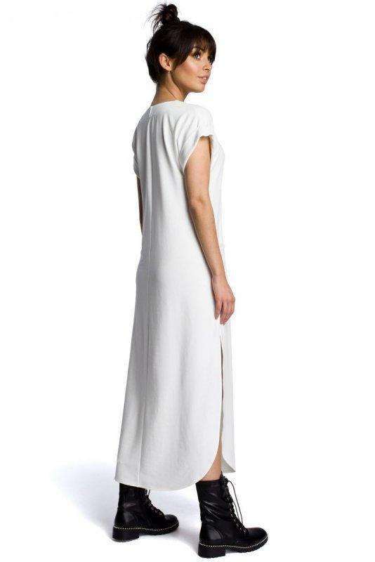 B065 Sukienka maxi ecru