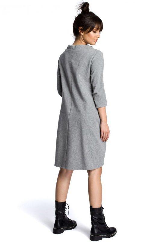 B070 Sukienka szara