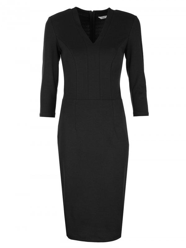 Sukienka z dekoltem w literę V - czarny - CS17