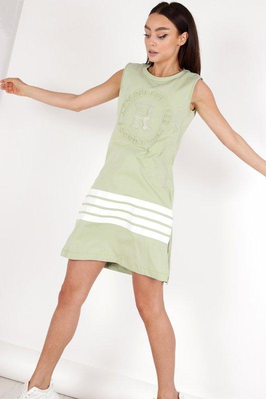 sukienka z wytłaczanym wzorem