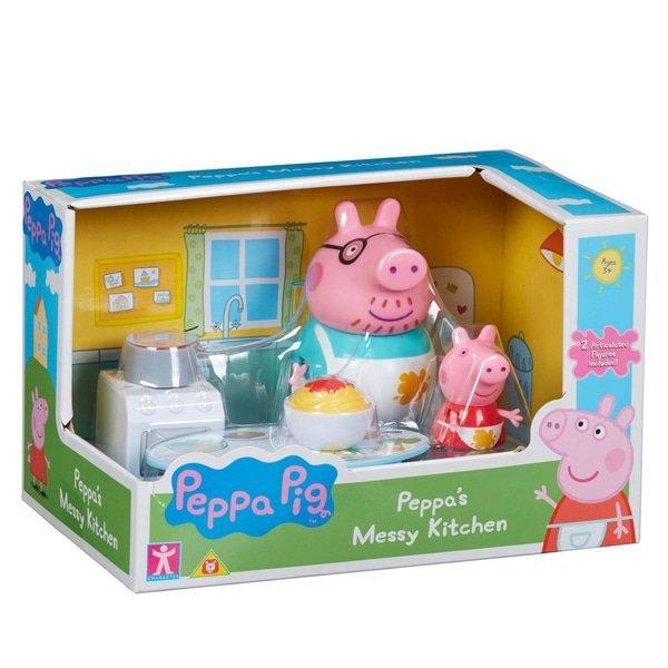 świnka Peppa Pig Tata świnka Gotowanie Kuchnia