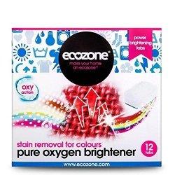Ecozone, Ekologiczny Odplamiacz do kolorów, Pure Oxygen, 12 tabletek