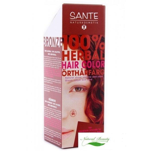 Sante Roślinna farba do włosów w proszku brąz