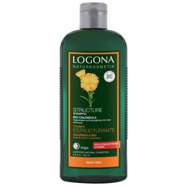 Logona Rewitalizujący szampon do włosów z bio-nagietkiem 250 ml.